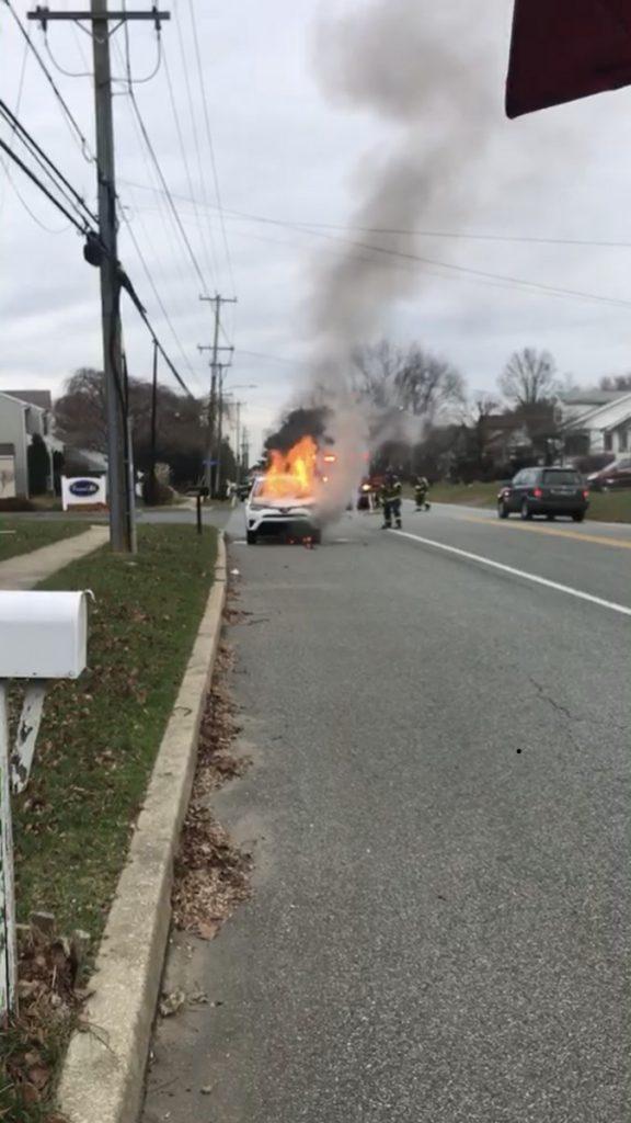 Car Fire Concord Rd